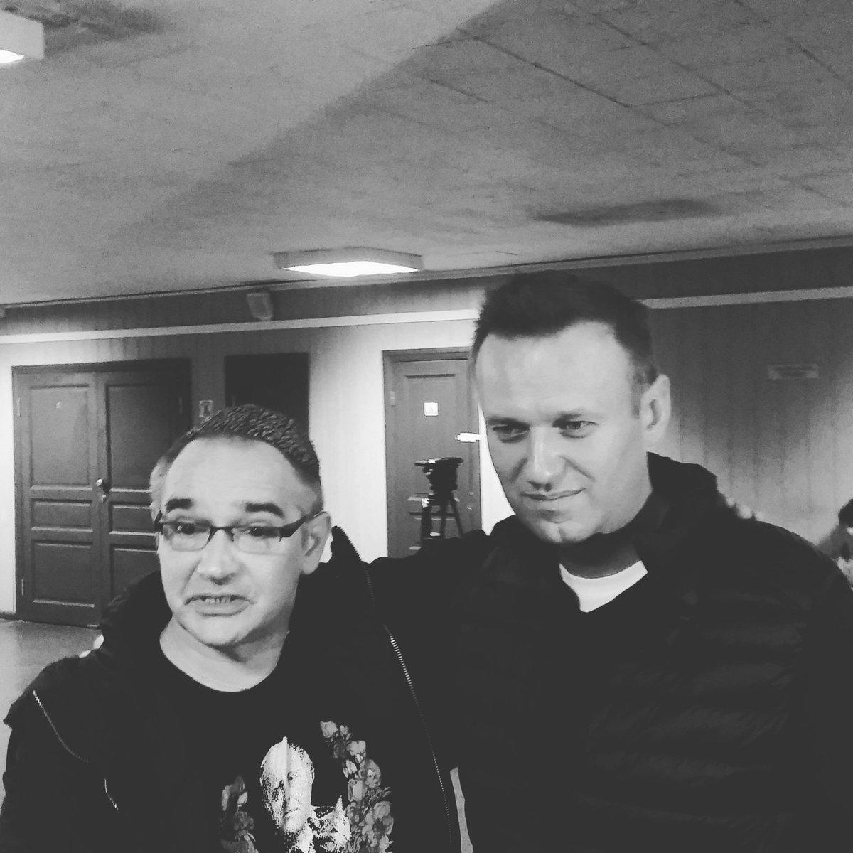 Антон Носик и Алексей Навальный в Пресненском суде Москвы, 3 октября 2016 Фото: SotaVision