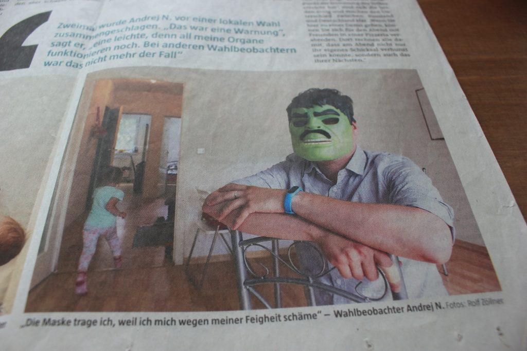 Статья про Андрея в немецкой газете
